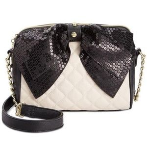 Betsey Johnson Sequin Bow Crossbody Macy's Quilted